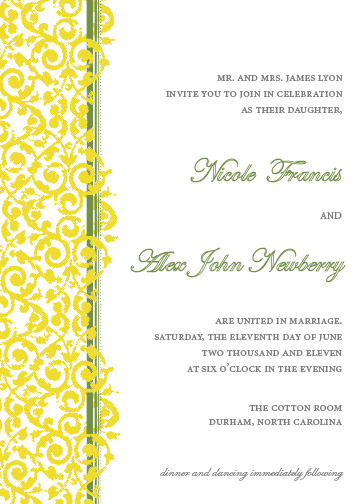 wedding invitations - lyon lattice by d greene