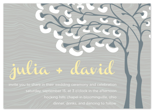 wedding invitations - Breezy Tree by cmdesign