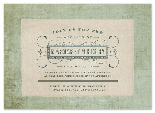 wedding invitations - Tea and Topo by Sydney Newsom