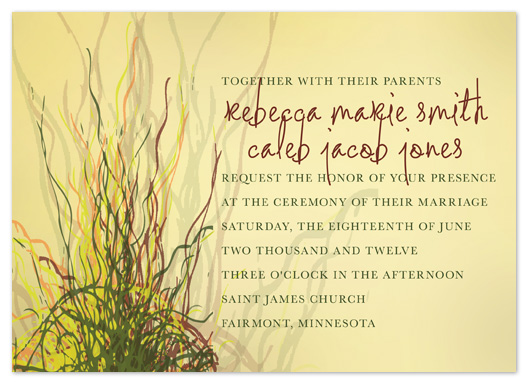 wedding invitations - Prairie Grass Love by Raybo Design