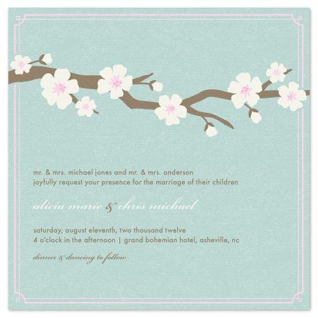 wedding invitations - Blossoms by Amber Barkley