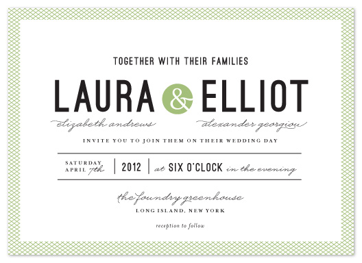 wedding invitations - Dot and Cross by Olivia Raufman