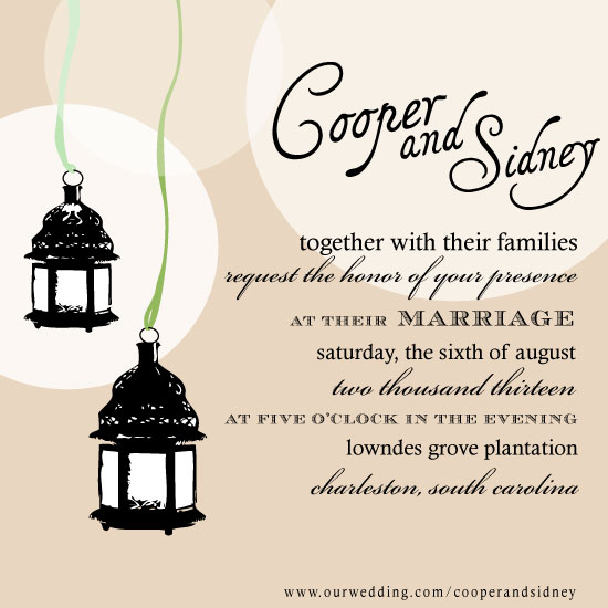 wedding invitations - Hanging Lanterns  by Holly Rose Harrison