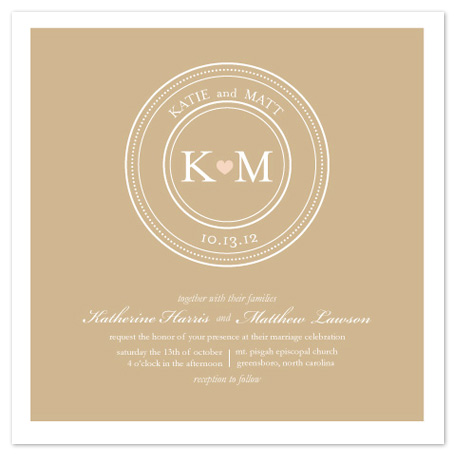 wedding invitations - Heart and Seal by Ashley Porter