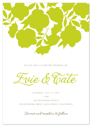 wedding invitations - Falling Floral by Sharon Rowan