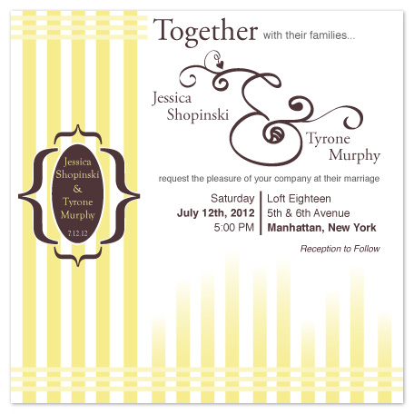 wedding invitations - Simply Yellow  by Angela Chih