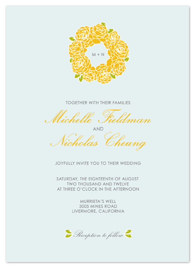 wedding invitations - Crown of Blooms by Phoebe Wong-Oliveros
