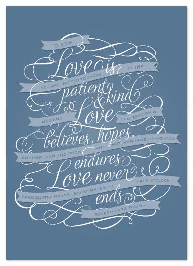 wedding invitations - Love Never Ends by Sandra Picco Design