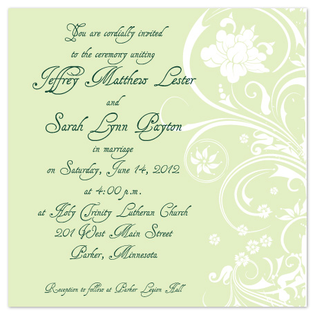 wedding invitations - Floral Bliss by Kelly Solheim