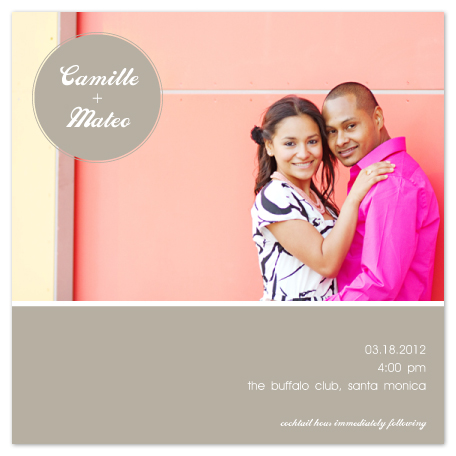wedding invitations - Neutral Nuptials by Heather Myers