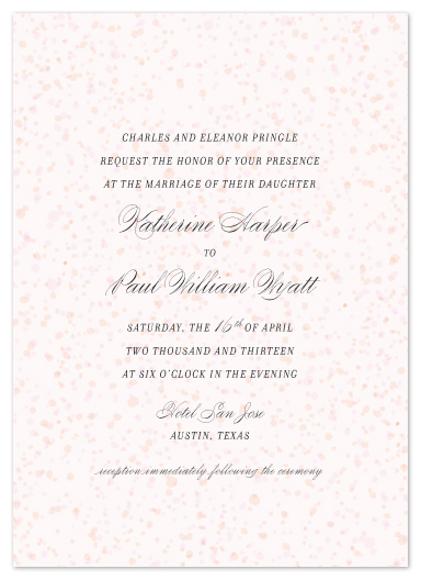 wedding invitations - Hemingway by beth perry DESIGN