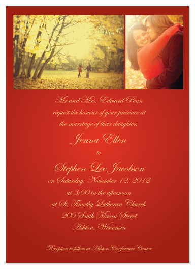 wedding invitations - Autumn Wine by Kelly Solheim