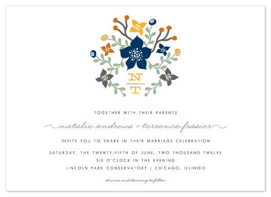 wedding invitations - Floral Initials by Lehan Veenker
