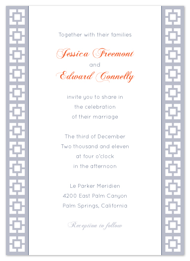 wedding invitations - Parker Simplicity by Heather Myers