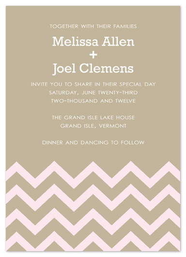 wedding invitations - Chevron Stripe by Truly Noted