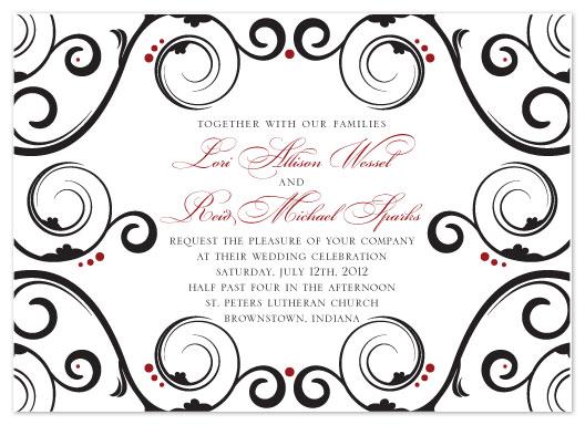 wedding invitations - Black Tie Affair by Allison Sparks