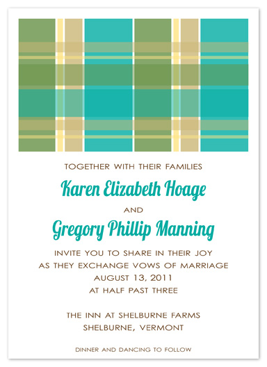 wedding invitations - Country Plaid by Truly Noted