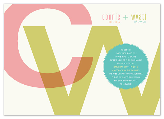 wedding invitations - Marriage by the Letters by Carol Fazio