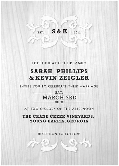 wedding invitations - Wood Elegance by Ksenia Phillips