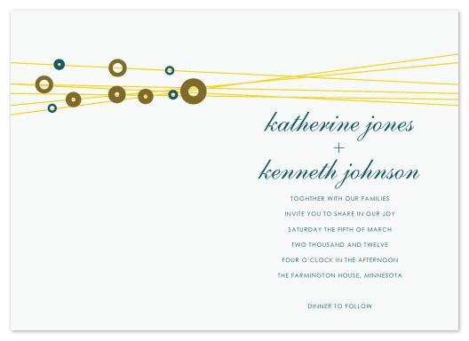 wedding invitations - Golden Strings by Jen Wawrzyniak