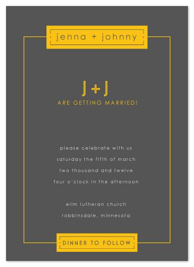 wedding invitations - borders by Jen Wawrzyniak