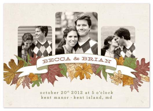 wedding invitations - Autumn Banner by Erin Pescetto