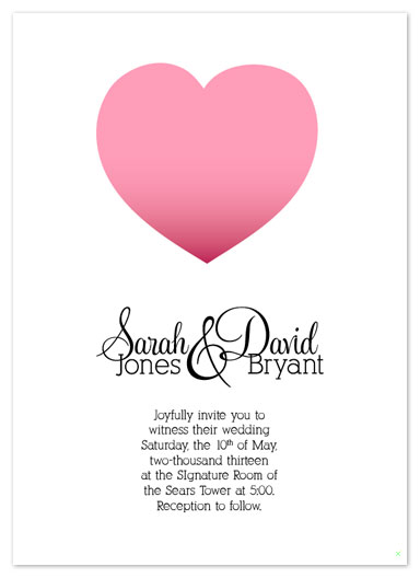 wedding invitations - Sophisticated Heart by Simply Shira