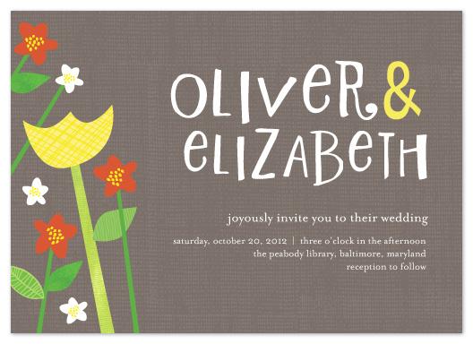 wedding invitations - Happy Garden by Vicky Barone