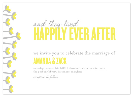 wedding invitations - Simple Happily Ever After by Vicky Barone