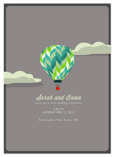 wedding invitations - Hot Air Balloon by Katie Gavenda