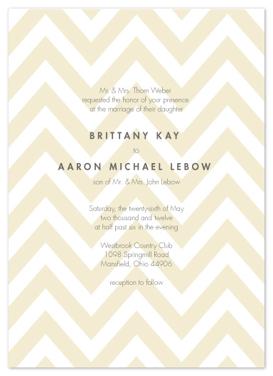 wedding invitations - Simple Chevron by Andi Pahl