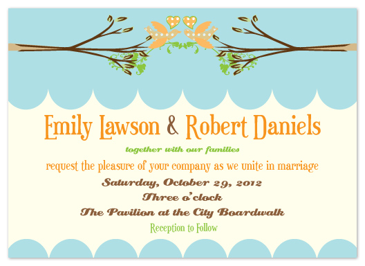 wedding invitations - Lovebirds by Aisle Say Wedding Papers by Graphix Blue LLC