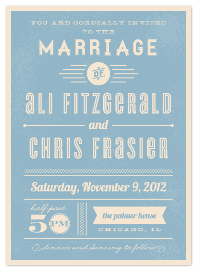 wedding invitations - Vintage Retro Type by Lehan Veenker