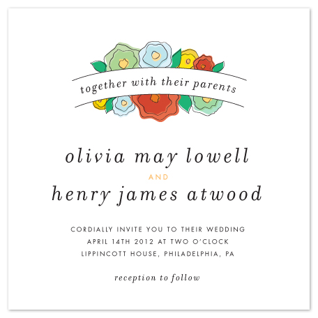 wedding invitations - House Garden by Erin Pescetto