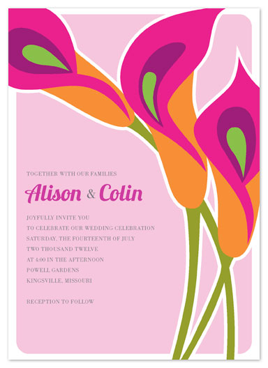 wedding invitations - Hot Lilies by Laura Bolter Design