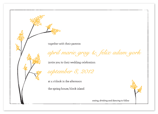 wedding invitations - goldenrod summer love by Jessica Burkart
