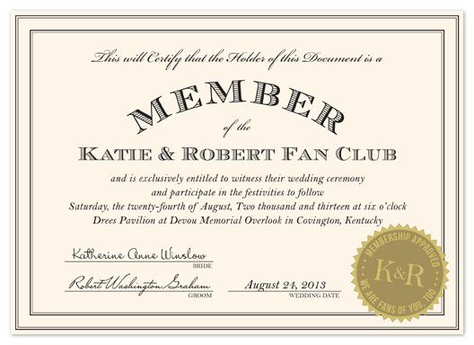 wedding invitations - Fan Club by Kim Dietrich Elam