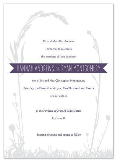 wedding invitations - rustic romance by Jessica Burkart