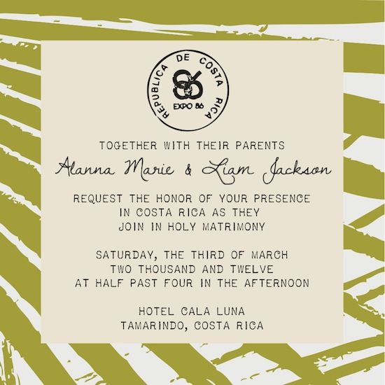 wedding invitations - Postal Rica by Jessica Smith