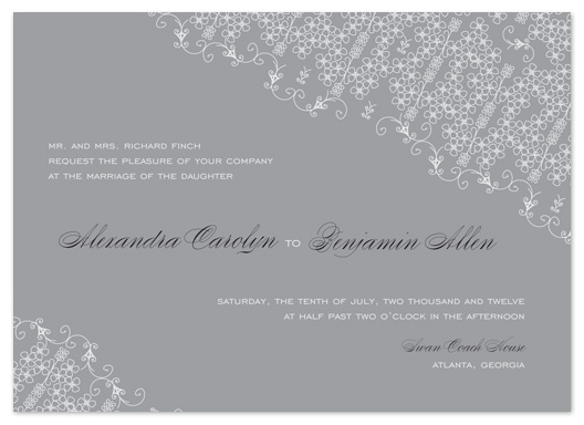 wedding invitations - Romantic Lace by tracey atkinson