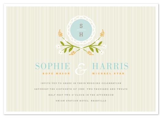 wedding invitations - Sweet Stripe by Kristie Kern