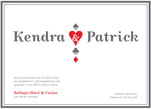 wedding invitations - Vegas Simplicity by Corinne Wong