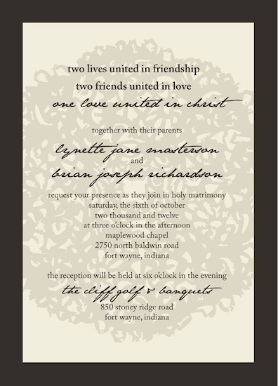 wedding invitations - Lace by Jessica Smith