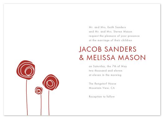 wedding invitations - rosettes by Dozi