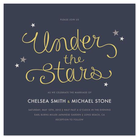wedding invitations - Under the Stars by Amber Barkley
