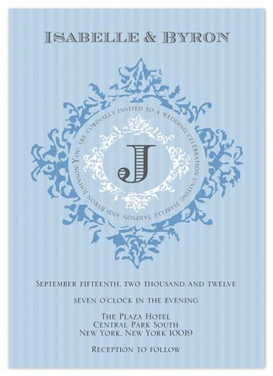 wedding invitations - Something Blue and Elegant by Kate Terhune