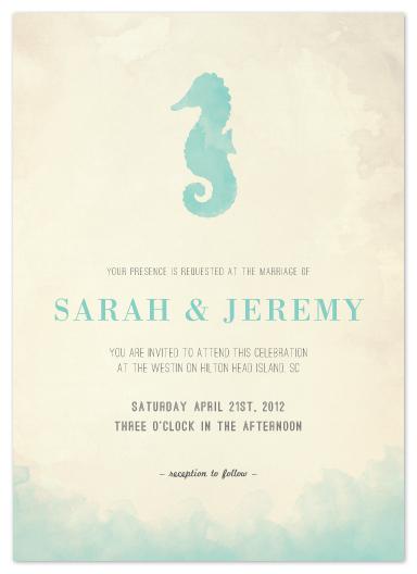Wedding Invitations Under The Sea By Elaine Stephenson