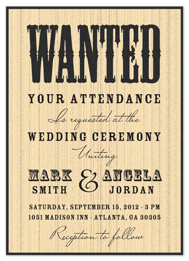 wedding invitations - Wanted at the Wedding by Kate Terhune