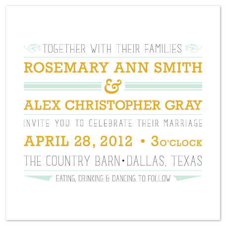 wedding invitations - type poster by Jessica Burkart