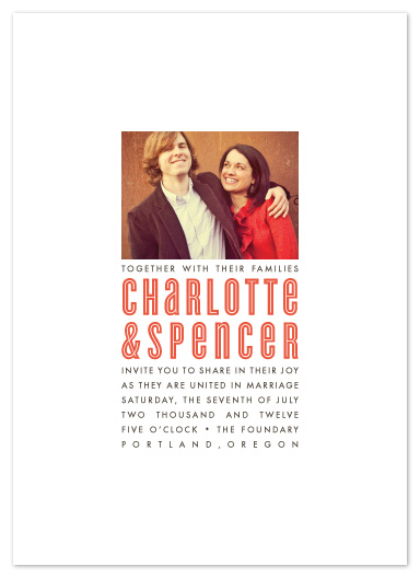 wedding invitations - Picture Perfect Pair by Alston Wise
